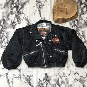Kids Harley-Davidson Nylon Full Zip Jacket Size 6